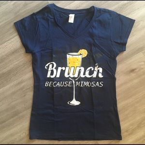 """Brunch because Mimosas"" T Shirt"